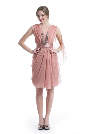 Alberta Ferretti Dusty Rose Dress Rent the runway