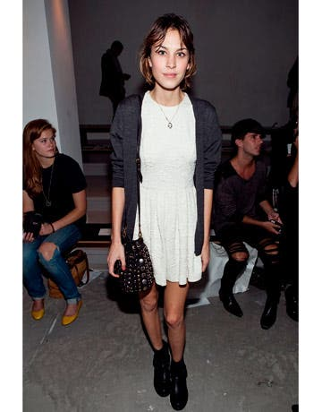 Alexa Chung at Fashion Week Rent the Runway