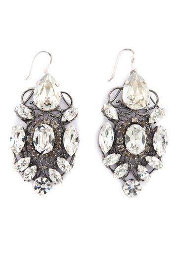 Anton Heunis Intricate Crystal Earrings Holiday Party