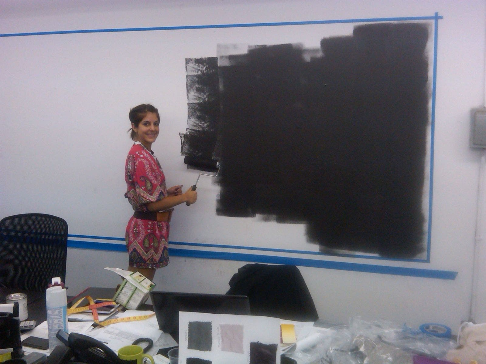 Anushka Painting the Magnetic Wall
