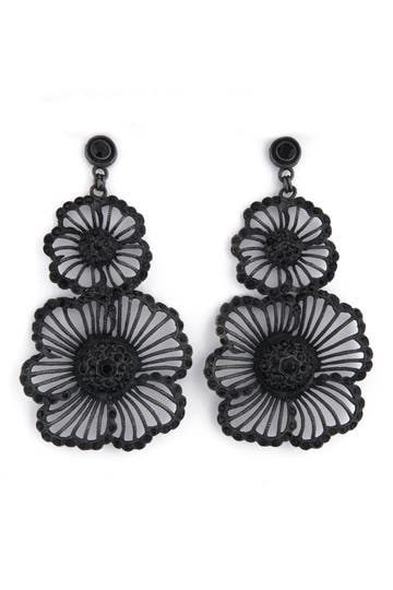 Azaara Jet Flower Earrings.jpg