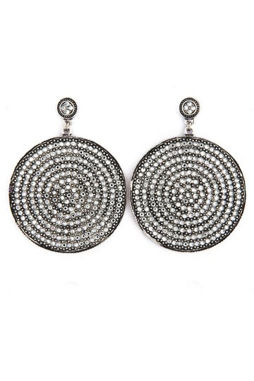 Azaara Silver Disc Earrings Rent the Ruwnay
