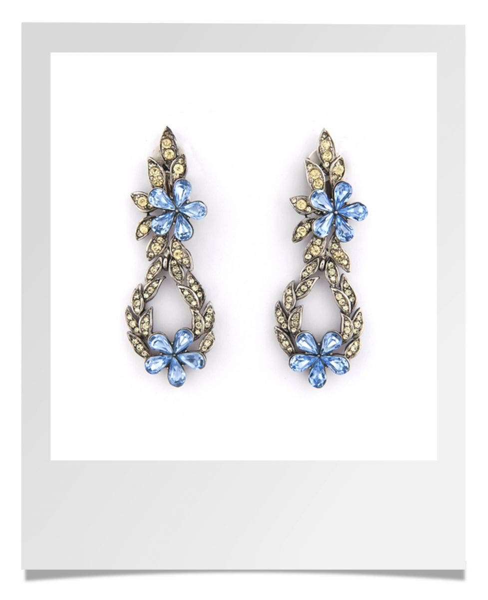 BRIDEfinds Trudelle Laker Doorknocker Crystal Earrings Rent the Runway