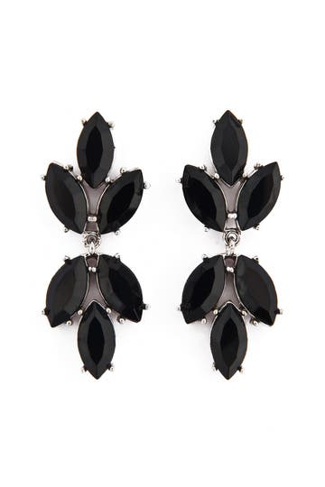 Badgley Mischka Black Spade Earrings