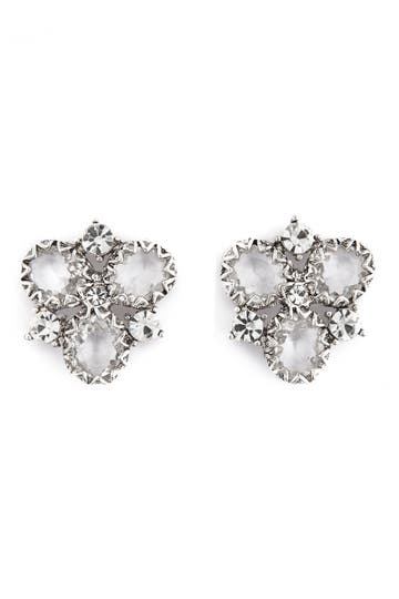 Badgley Mischka Crystal Cluster Earrings Rent the Runway