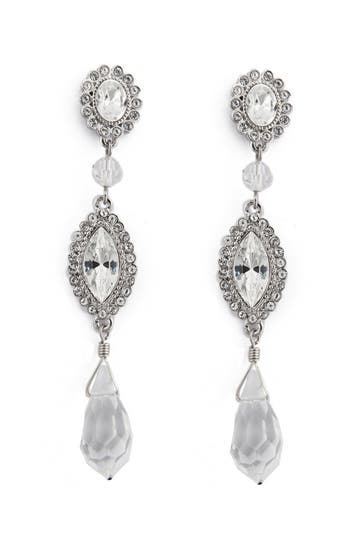 Badgley Mischka MarryMe Crystal Drop Earrings