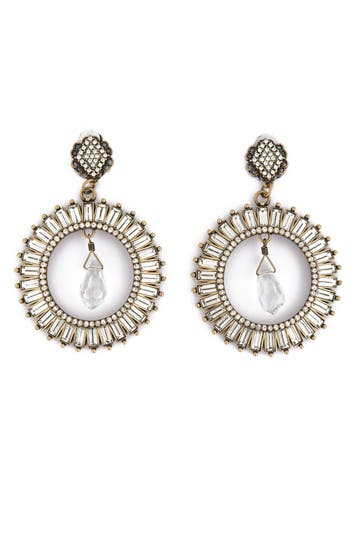 Badgley Mischka Radiant Crystal Crown Earrings Rent the Runway