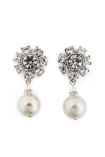 Badglley Mischka Luminosity Pearl Earrings Rent the Runway