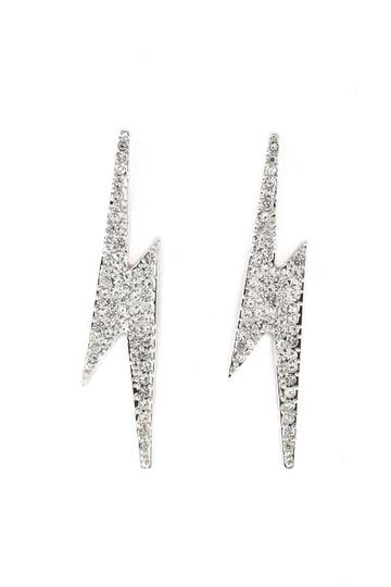 CC Skye Pave Flash Earrings Rent the Runway