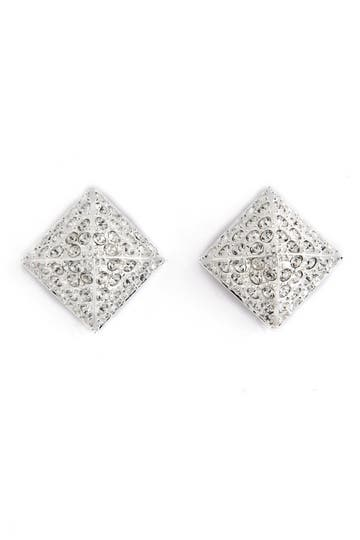 CC Skye Pave Stud Earrings Rent the Runway