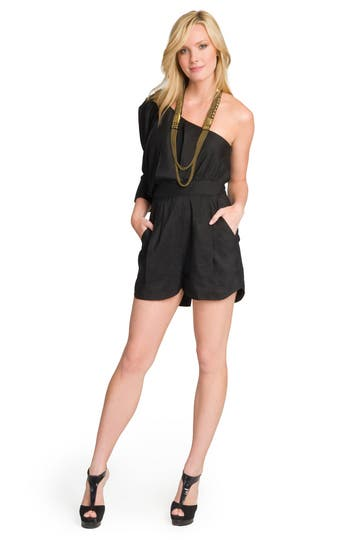 Camilla and Marc Linen One Sleeve Romper Rent the Runway
