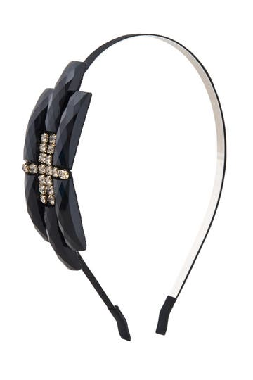 Cara Accessories Geometric Rhinestone Headband