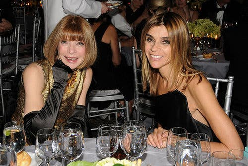 Carine Roitfeld with Anna Wintour Vogue Rent the Runway