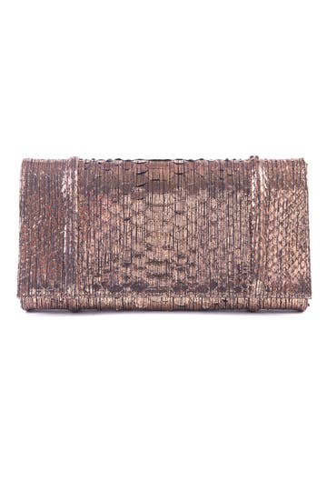 Carlos Falchi Bronze Bombshell Clutch Rent the Ruwnay
