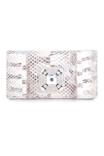 Carlos Falchi Vanilla Latte Clutch Rent the Runway