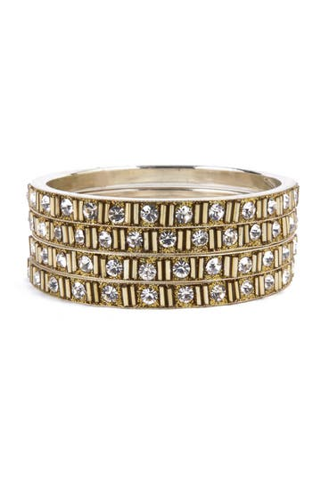 Chamak Imperial Crystal Bangle Set Rent the Ruwnay