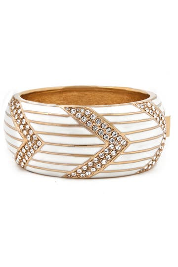 Ciner Pave Arrow Bangle Rent the Runway