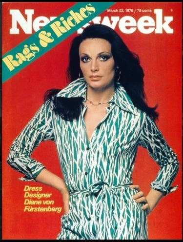 DVF Newsweek 70's Cover Rent the Runway