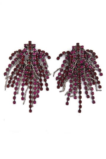 Dannijo Cecile Love Earrings Rent the Runway