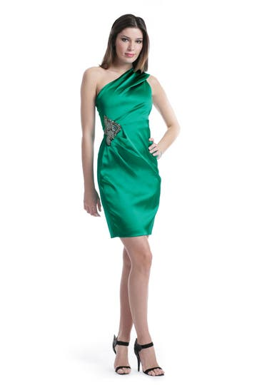 David Meister Emerald Jeweled Dress Rent the Runway