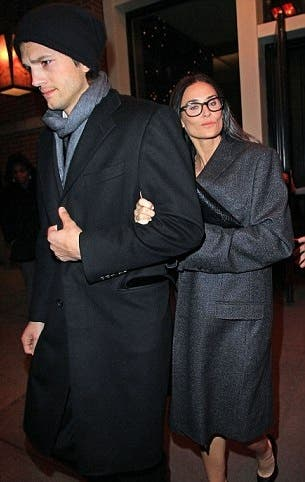 Demi Moore and Ashton Kutcher Rent the Runway