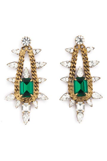 Elizabeth Cole Old School Glamour Earrings.