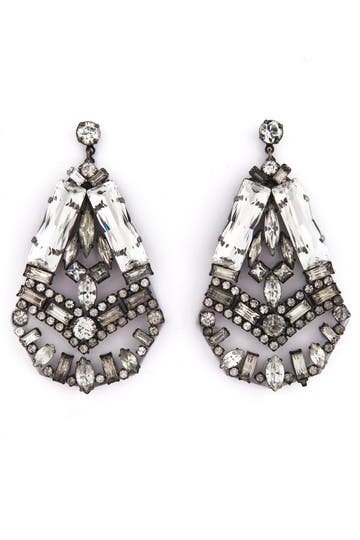 Erickson Beamon Heart of Glass Earrings