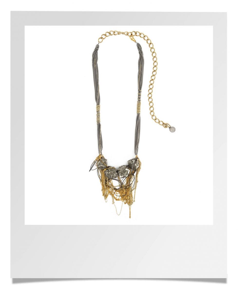 Gemma Redux Pyrite Rock Steady Necklace Rent the Runway