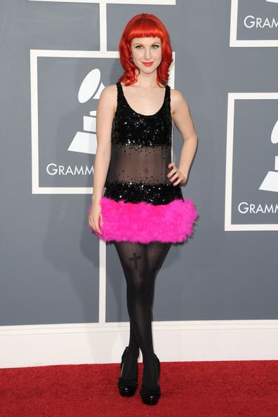 Grammys Paramore Hayley Williams Rent the Runway