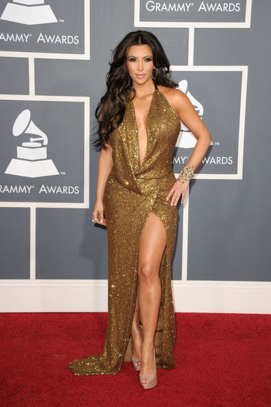 Grammys Kim Kardashian Rent the Runway