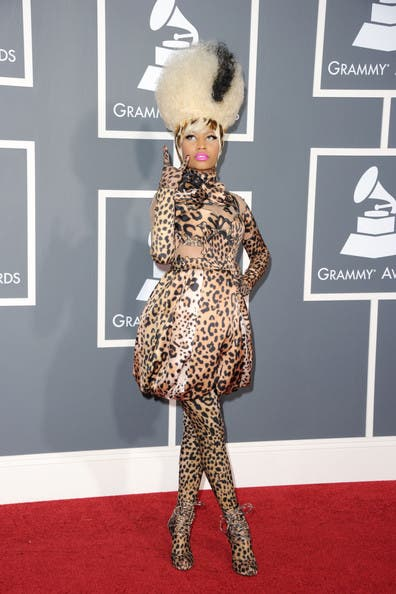 Grammys Nicki Minaj Rent the Runway