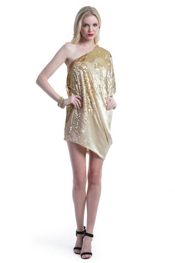 Halston Heritage Golden Sparrow Dress Rent the Runway