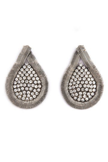 Janis Savitt Snake Chain Teardrop Earrings Rent the Runway