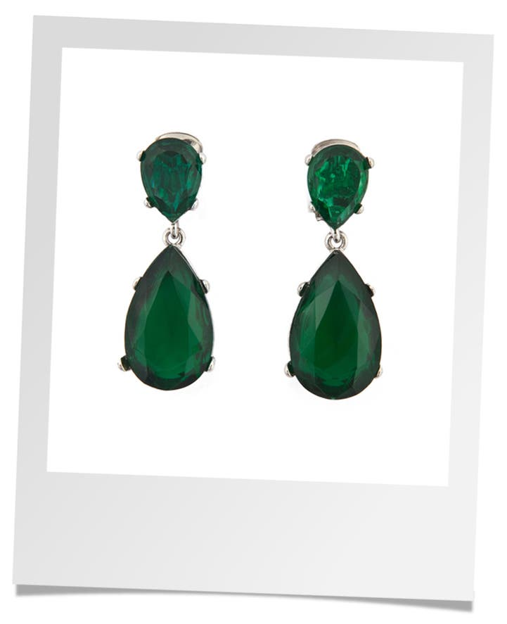 Kenneth Jay Lane Jade Drop Earrings Rent the Runway