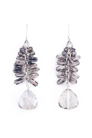 Lee Angel Bursting Glass Earrings Rent the Runway