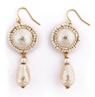 Miriam Haskell Power Pearl Earrings