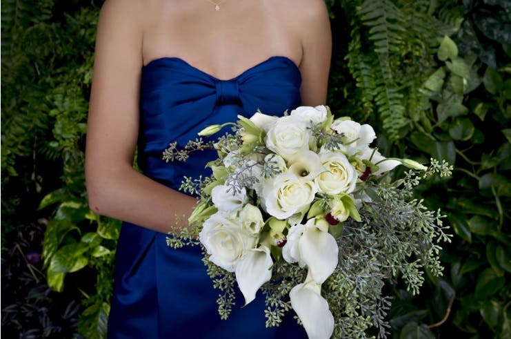 Ovando Weddings Rent the Runway Bouquets and bridesmaid dresses
