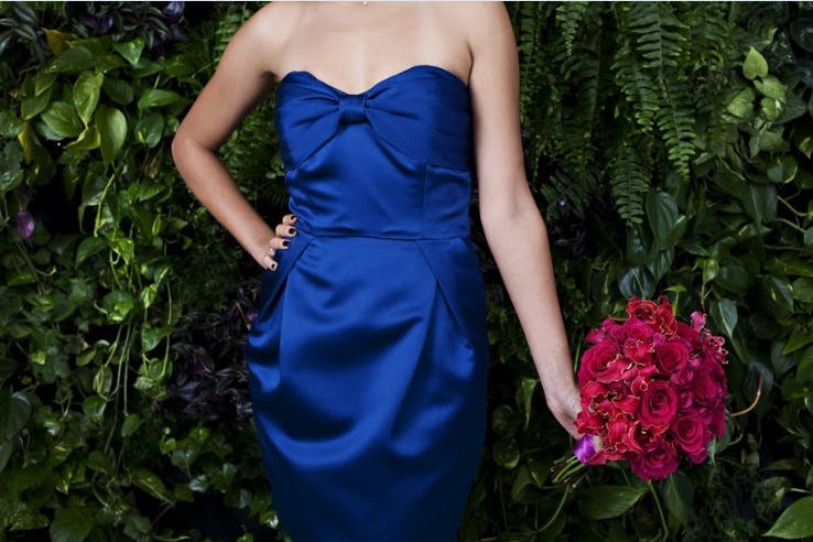Ovando Weddings Rent the Runway bridesmaids dresses and bouquets