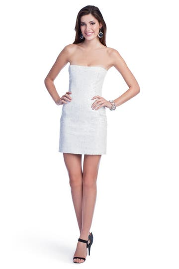 Peter Soronen White Hot Sequin Dress Rent the Runway