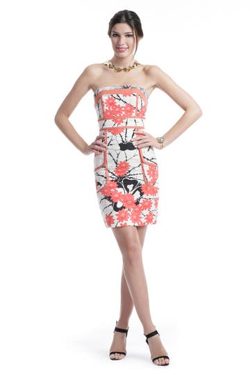 Tracy Reese Coral Floral Sheath Dress Rent the Runway