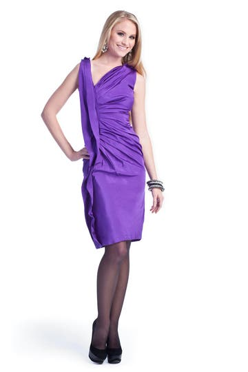Vera Wang Vivid Violet Sheath Dress Rent the Runway