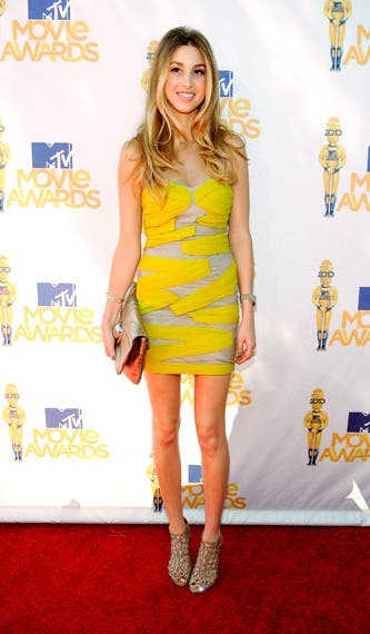 Whitney Port in Yigal Azrouel