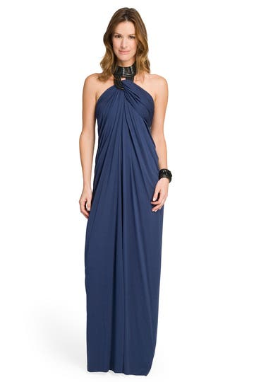 Yigal Azrouel Draped Halter Gown Rent the Runway