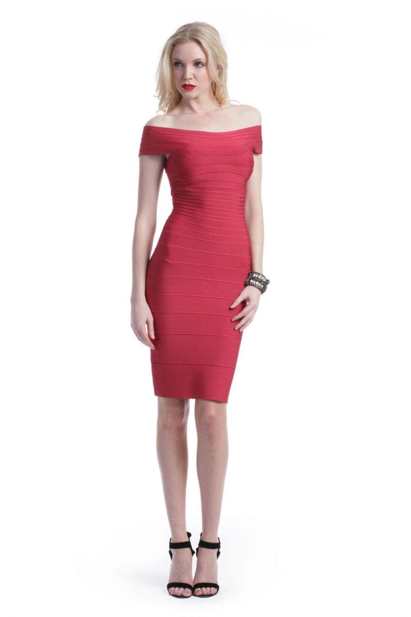 Herve Leger Cherry On Top Dress