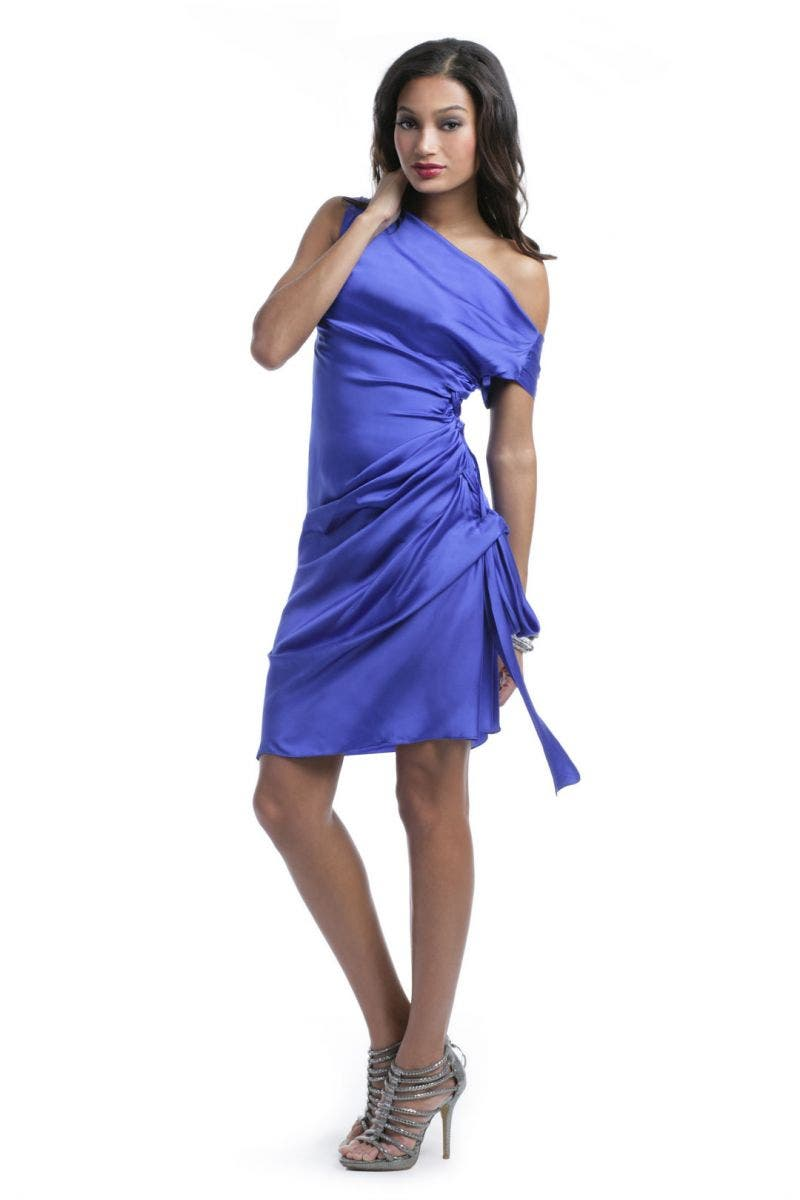 Moschino Cobalt Tie Dress
