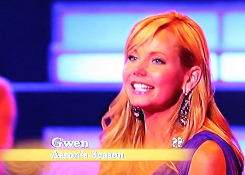 Gwen on the Bachelor Pad