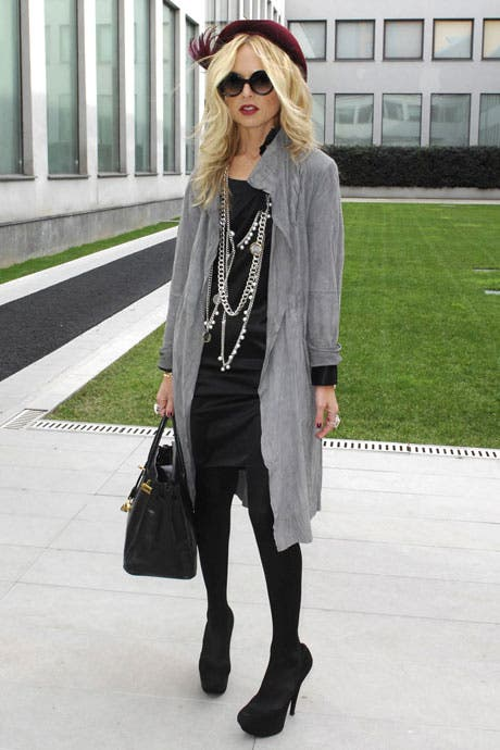 Rachel Zoe at Fashion week Rent the Runway