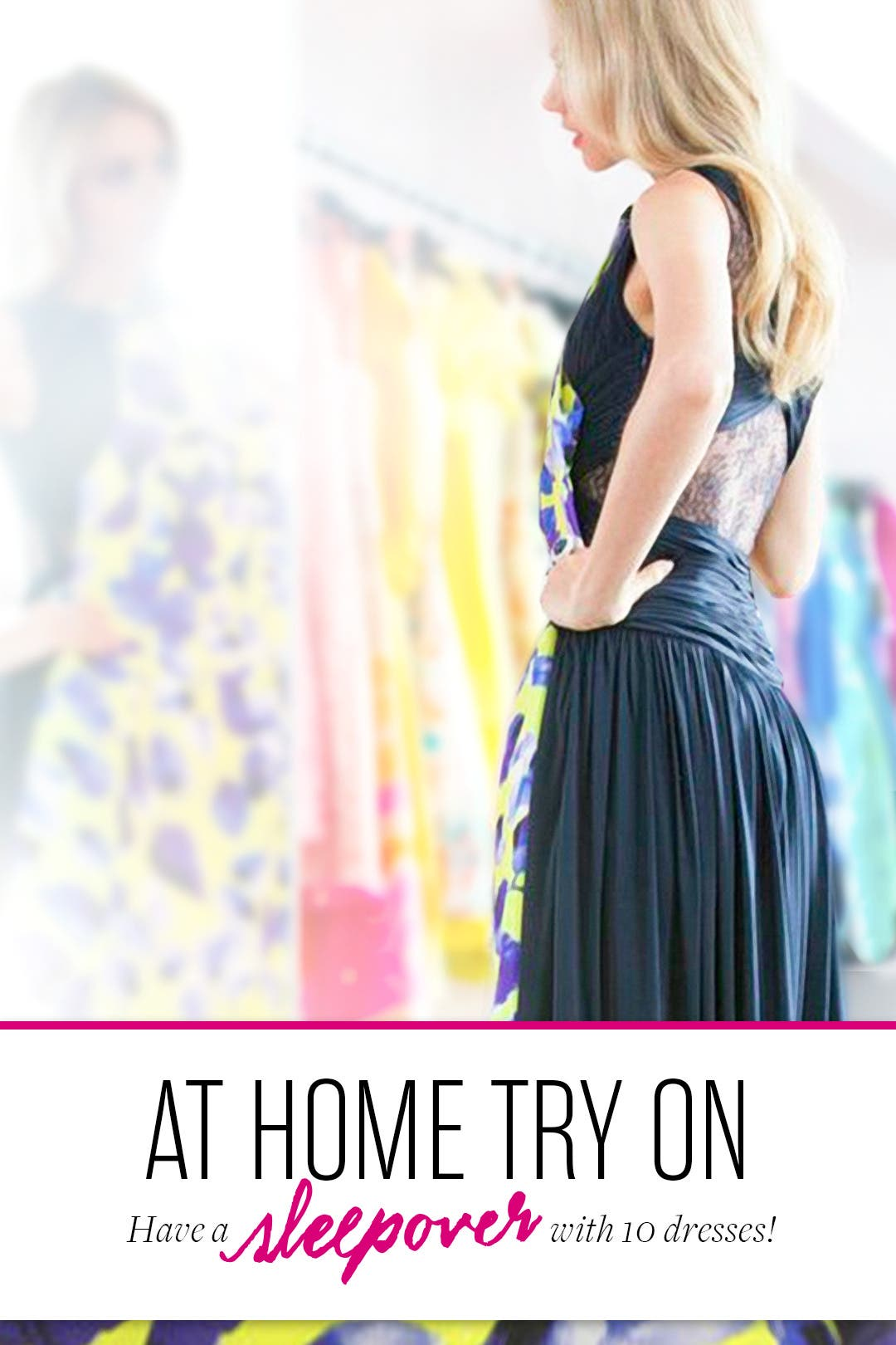 At Home Try On 10 Dresses by Rent the Runway