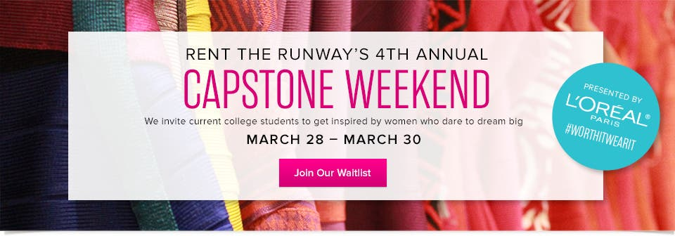 Capstone Weekend - Reserve Your Spot