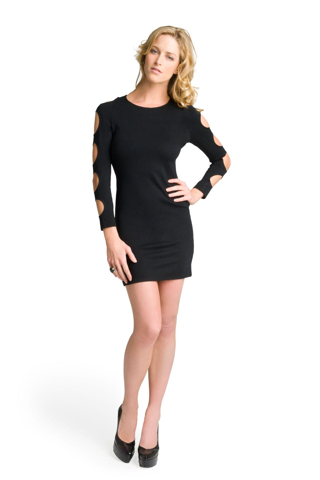 Back Zip Cut Out Sleeve Dress by Alice + Olivia